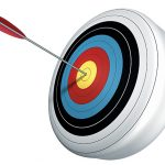 round target with an arrow in the bulls eye