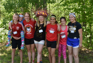 Group of girls at 4-H camp-2017