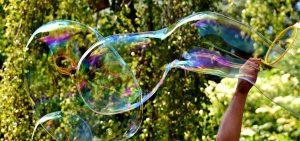 Large soap bubbles