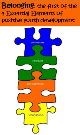 Belonging & colorful puzzle pieces