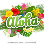 Aloha with flowers