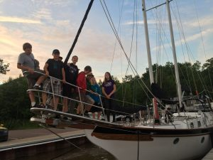 Kids on a sailboat