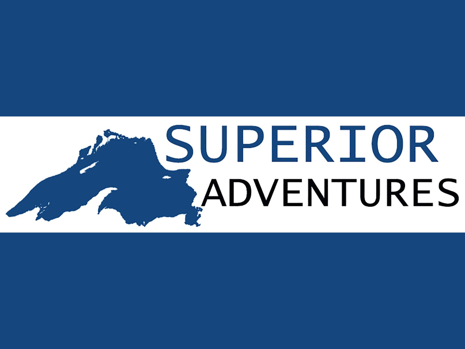 Superior Adventures Logo with blue