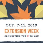 Oct 7 -11, 2019 Extension Week