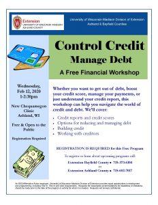 Control Credit flyer