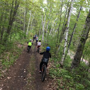 bicycling on the trail