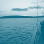 Sailing on Lake Superior -blue tones