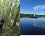 biking and canoeing