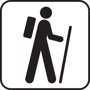 Hiking icon sign