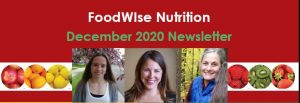 FoodWIse Nutrition December 2020 Newsletter