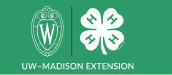 UW Madison and 4-H Logo