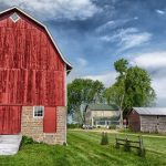 Wisconsin Farm with red barn