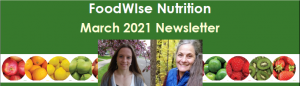 Header for March 2021 FoodWIse Newsletter