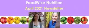 April 2021 FoodWIse Newsletter Header