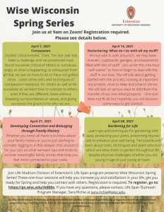 Wise Wisconsin Spring Flyer