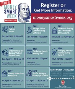 Virtual Money Smart Week 2021 Calendar