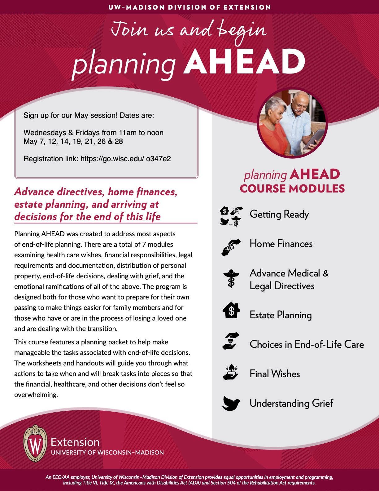Planning Ahead Flyer May 2021