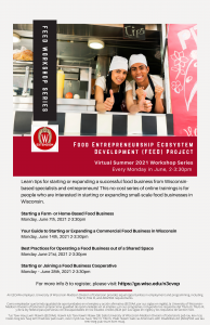 FEED workshops flyer