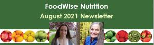 August 2021 FoodWIse Newsletter Header