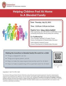 Blended Families workshop flyer